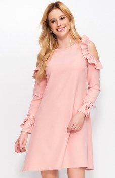 Makadamia M402 sukienka brudny róż