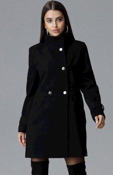 Figl M623 płaszcz czarny