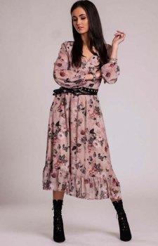 Sukienka maxi w kolorowe kwiaty 241