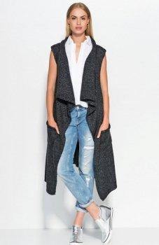 Makadamia S43 sweter czarny
