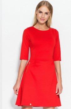 Makadamia M316 sukienka czerwona