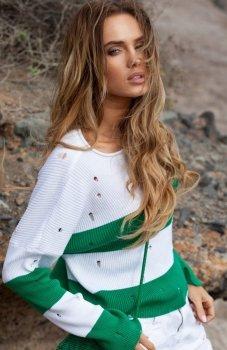 *FIMFI I296 sweter zielony