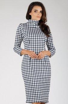 Nommo NA330 sukienka szachownica