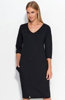 *Makadamia M318 sukienka czarna