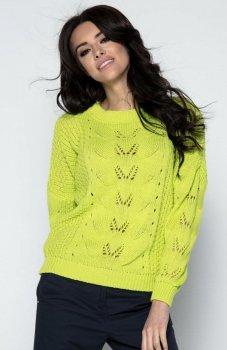 Fobya F482 sweter limonkowy