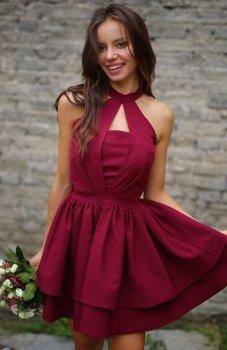 *Roco 0202 sukienka bordowa
