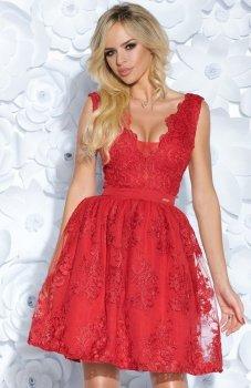 Bicotone 2153-02 sukienka czerwona