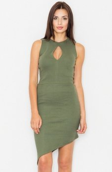 Figl M486 sukienka zielona