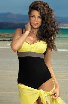 Marko Whitney M-253 kostium kąpielowy czarno żółty