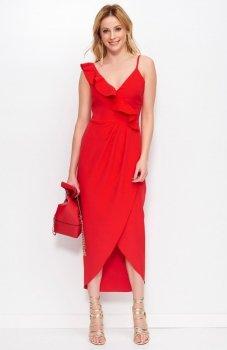 *Makadamia M396 sukienka czerwona