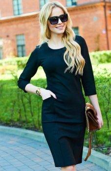 Makadamia M424 sukienka czarna