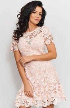 Roco 0200 sukienka pudrowy róż