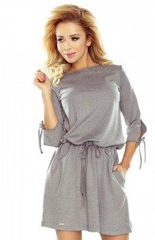 *Numoco 176-1 sukienka szara