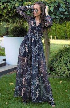 Roco 0219 sukienka wzorzysta