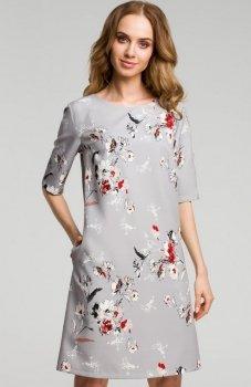 Moe M379 sukienka szara