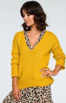BE BK012 sweter musztardowy