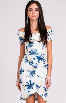 Ołówkowa sukienka w drobne kwiaty 248