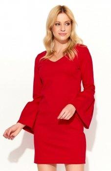 *Makadamia M366 sukienka czerwona