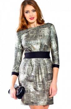 Bicot 2067-06 sukienka srebrno-czarna