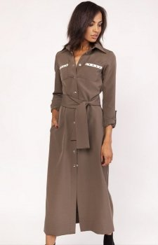 Lanti SUK157 sukienka khaki