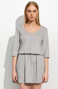Makadamia M309 sukienka szara