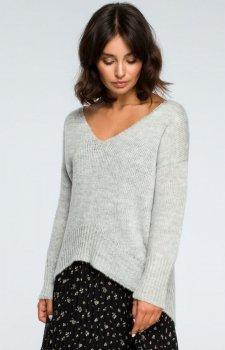 BE BK012 sweter popielaty