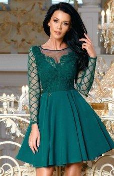Bicotone 2165-13 sukienka rozkloszowana zielona