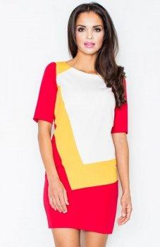 *Figl M118 sukienka czerwona