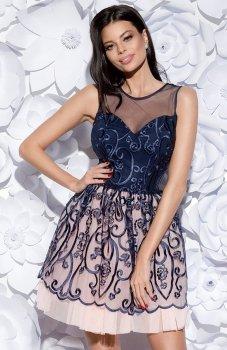 Bicotone 2129-01 sukienka granatowa