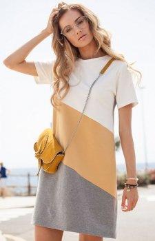 Moe M373 sukienka żółta