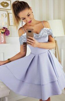 Bicotone 2142-31 sukienka szara