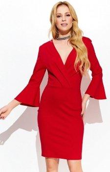 Makadamia M422 sukienka czerwona