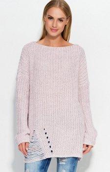 Makadamia S41 sweter pudrowy róż