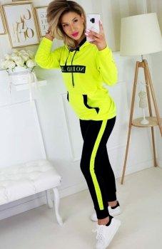 *Carmel No Bad Vibe bluza i spodnie neon