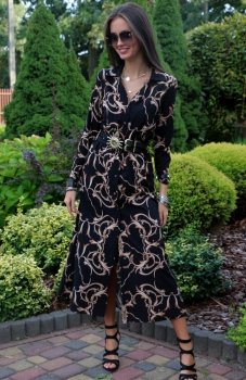 Roco 0220 sukienka długa czarna