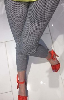 Lola Fashion spodnie cygaretki wzór 8