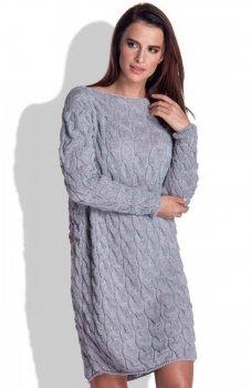FIMFI I155 sukienka szara