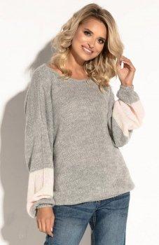 Fobya F578 sweter szary