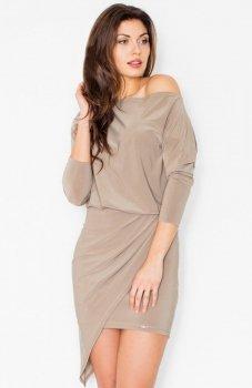 Figl M475 sukienka beżowa