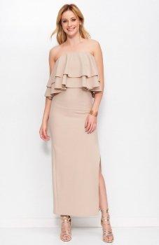 Makadamia M399 sukienka cappucino