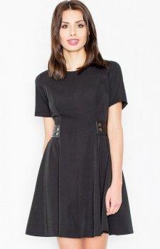 Figl M444 sukienka czarna