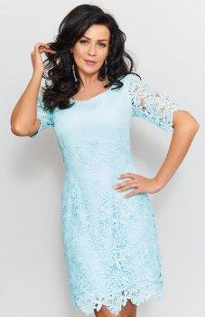 Roco 0204 sukienka błękitna