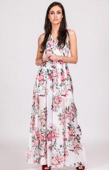 Kwiatowa sukienka maxi D12