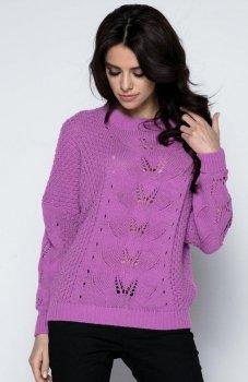 Fobya F482 sweter fioletowy