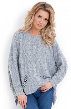 Fobya F625 sweter szary