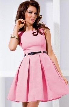 SAF 6-5 sukienka pudrowy róż
