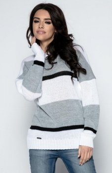 Fobya F483 sweter szary
