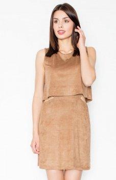Figl M461 sukienka brązowa