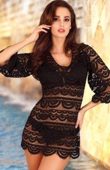 Lupoline tunika plażowa czarna