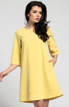 Nommo NA291 sukienka żółta